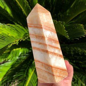 Other - Rainbow Aztec calcite Dali jasper wand crystal